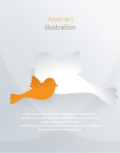 New Bird Vector Background: 3d Abstract Vector Background Illustration With Bird 1