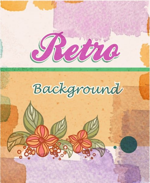 Smashing Floral Vector Illustration: Retro Vector Illustration Floral Background 1
