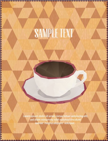 Surprising Vector Eps Vector: Eps Vector Illustration With Abstract Background With Coffee Cup 1