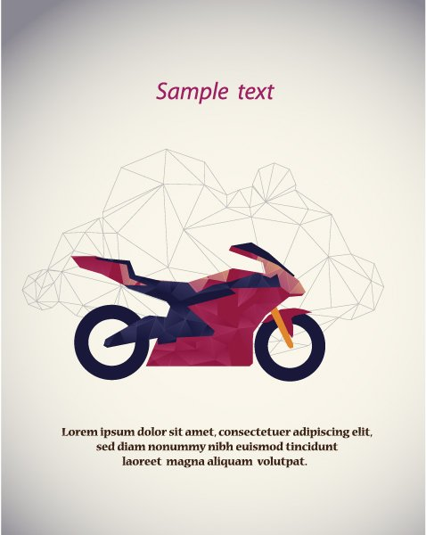 Motorcycle, Element, Illustration Vector Design Vector Illustration  Abstract Background  Motorcycle 1