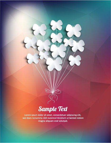New Element Vector Artwork: Vector Artwork Illustration With Abstract Background With Flowers 1