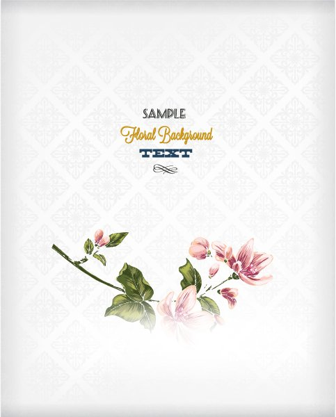 Amazing Flowers Eps Vector: Floral Background Eps Vector Illustration With Spring Flowers 1