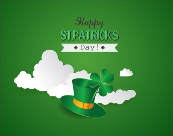 Surprising Clover Vector Artwork: St. Patricks Day Vector Artwork Illustration With Clover 1