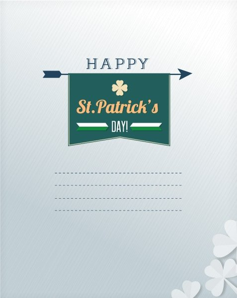 Insane Illustration Vector Illustration: St. Patricks Day Vector Illustration Illustration With Clover 1