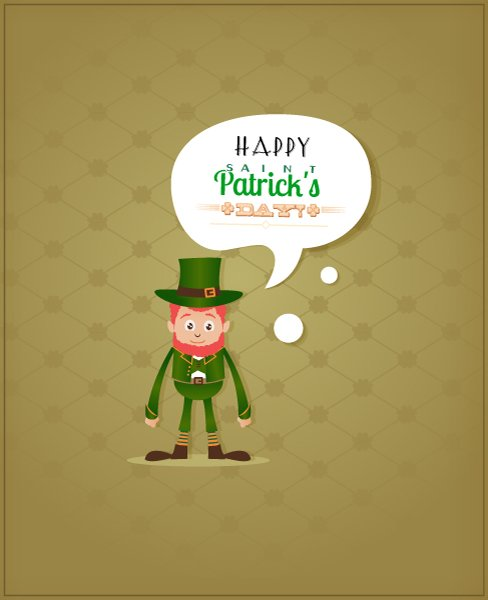 Clover, Illustration Vector Artwork St. Patricks Day Vector Illustration  Leprechaun  Clover 1