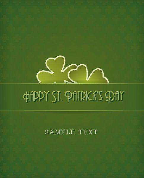 "Day, Clover, St., ""patricks"" Eps Vector St. Patricks Day Vector Illustration  Clover 1"