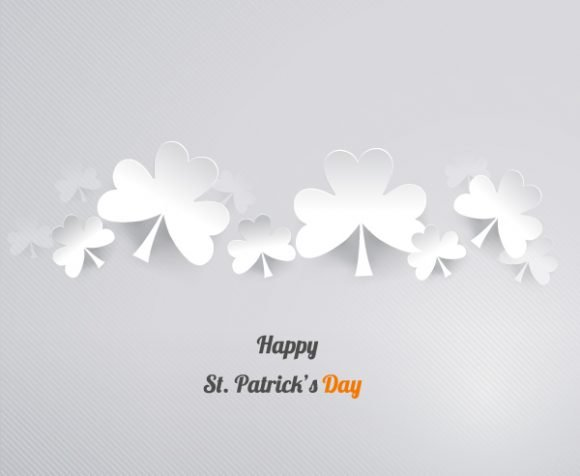 "Sticker, Clover, ""patricks"", Illustration Vector Image St. Patricks Day Vector Illustration  Sticker Clover 1"