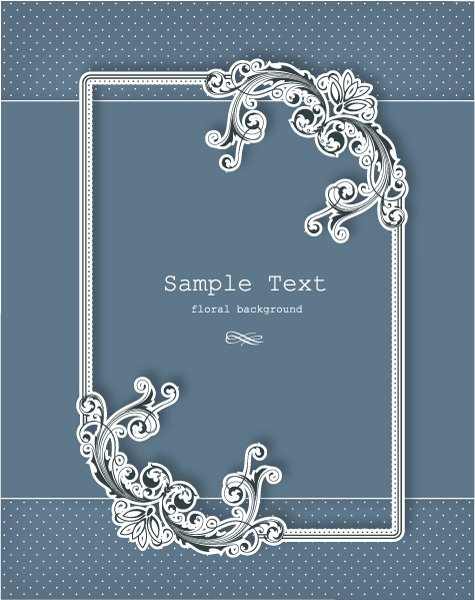 Bold Illustration Eps Vector: Floral Frame Eps Vector Illustration With Floral Frame 1