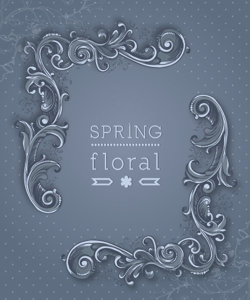 Flowers Vector Graphic Floral Background Vector Illustration  Spring Flowers  Frame 1