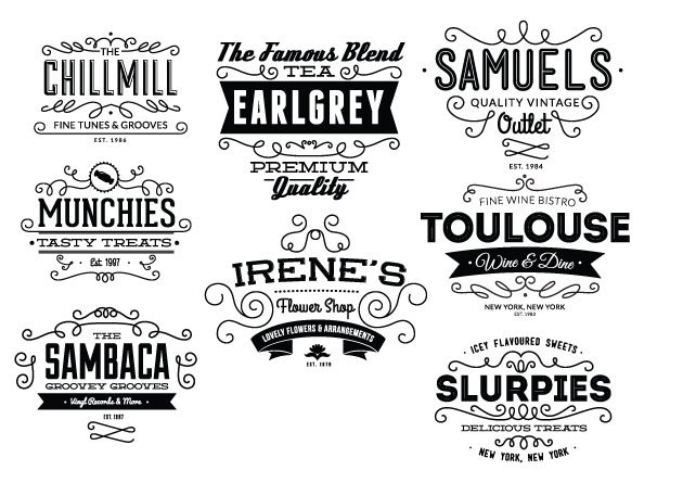 Vintage Creative Typographic Collection 20