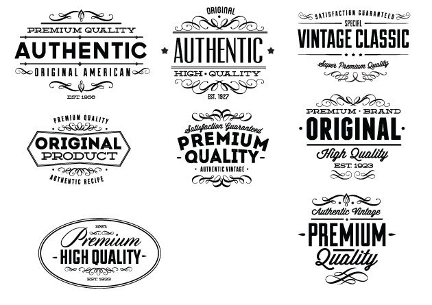 Vintage Creative Typographic Collection 16