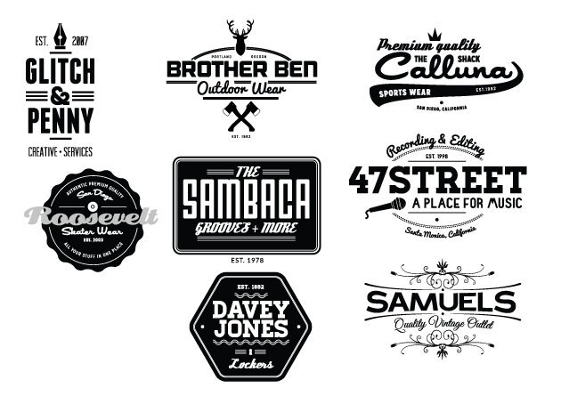 Vintage Creative Typographic Collection 14