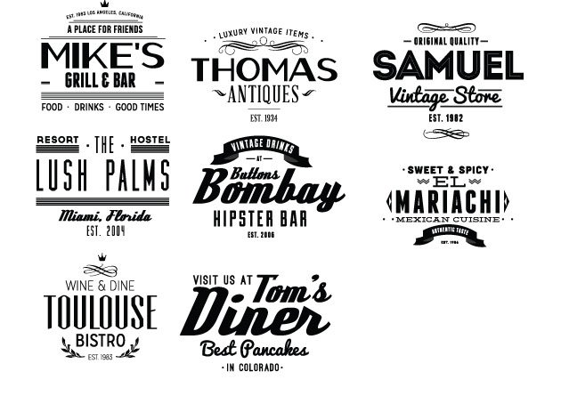 Vintage Creative Typographic Collection 8