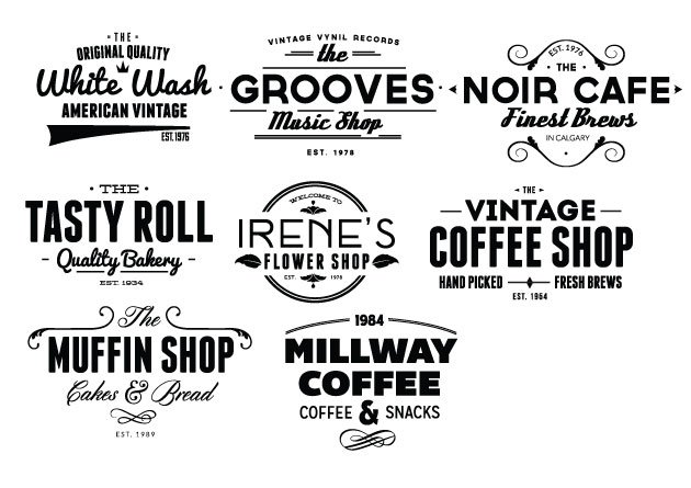 Vintage Creative Typographic Collection 10
