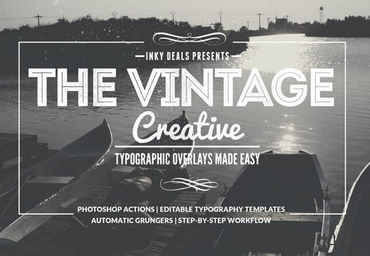 Vintage Creative Typographic Collection 1