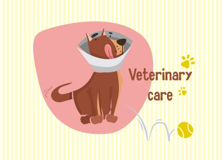 Veterinary, Puppy Vector Graphic Illustrated Flat Vector Set 1