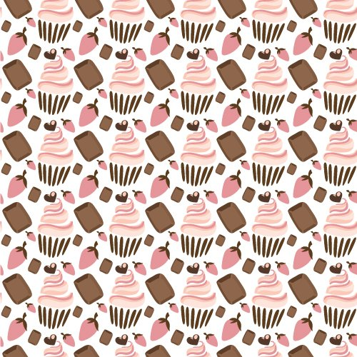 Cupcake Vector Graphic Illustrated Flat Vector Set 1