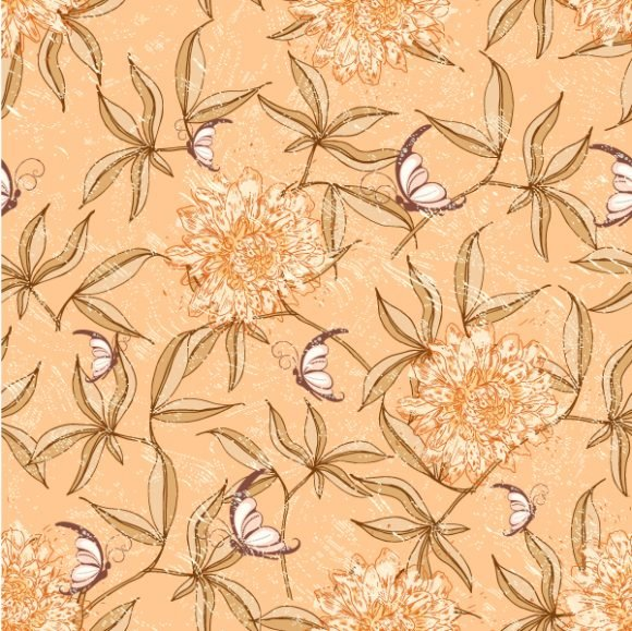 vector seamless floral background 1