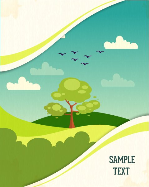 Striking Stylish Vector Artwork: Vector Artwork Background Illustration With Tree 1