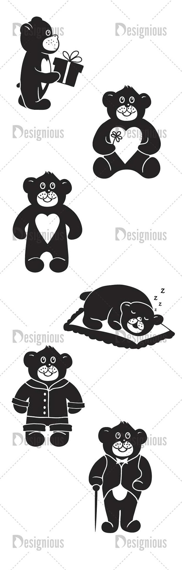Vector Bears Pack 1for Vinyl Cutter 2