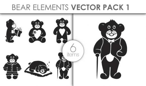 Vector Bears Pack 1for Vinyl Cutter 1