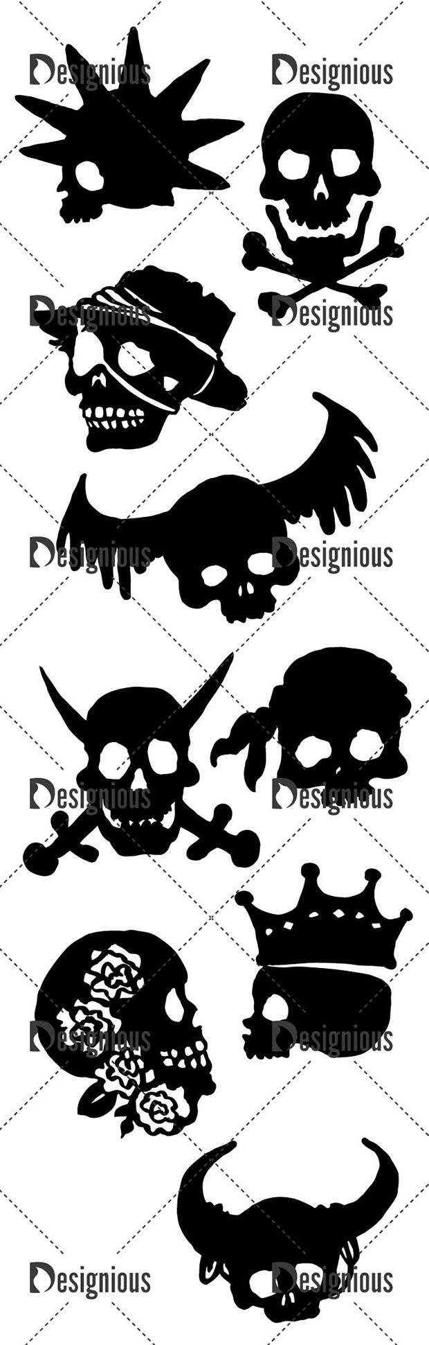 Vector Carribean Skull Pack 2 2