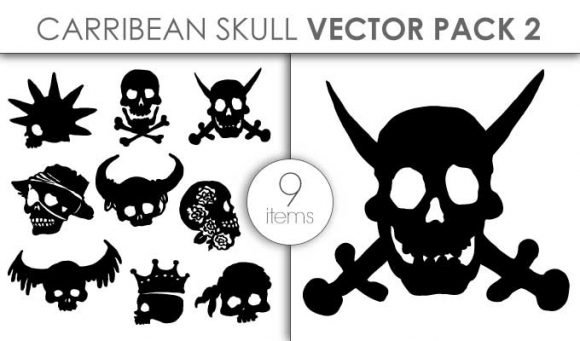 Vector Carribean Skull Pack 2 1