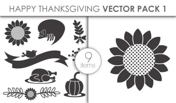 Vector Happy Thanksgiving Pack 1 1