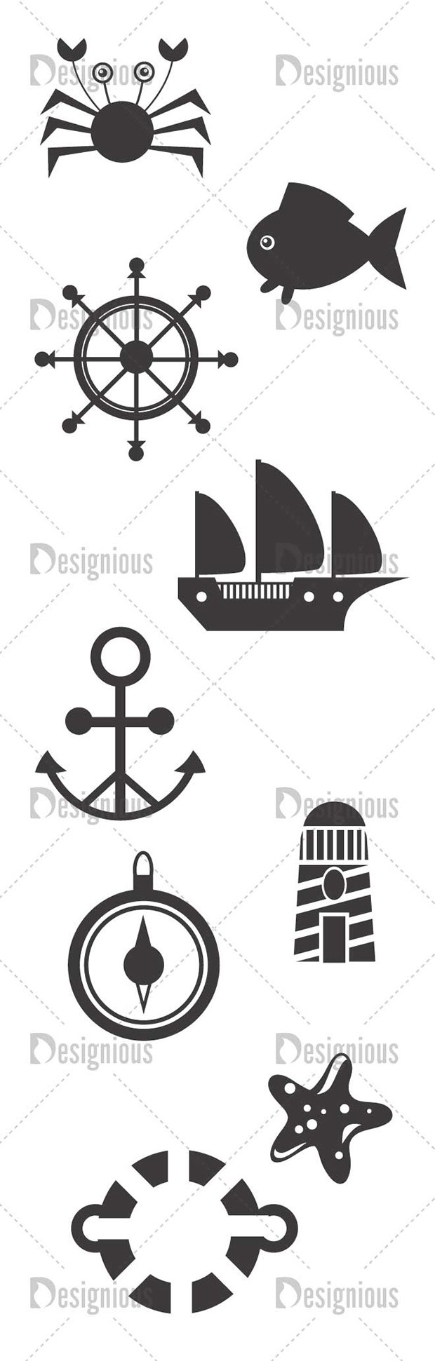 Vector Marine Life Pack 1 2