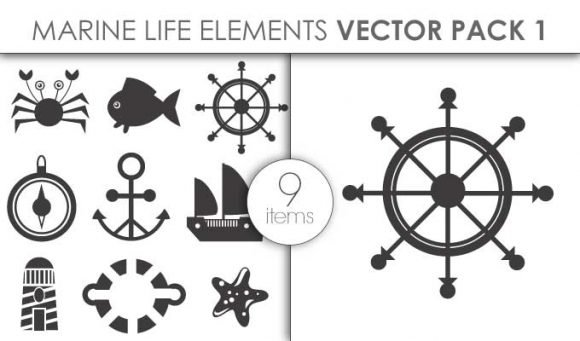 Vector Marine Life Pack 1 1