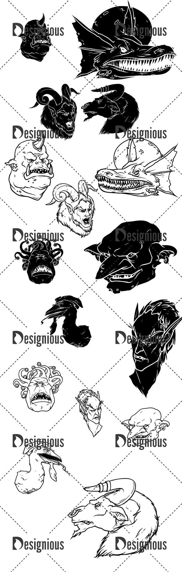 Vector Mythical Creatures Pack 6 2