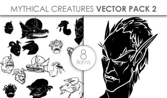 Vector Mythical Creatures Pack 6 1