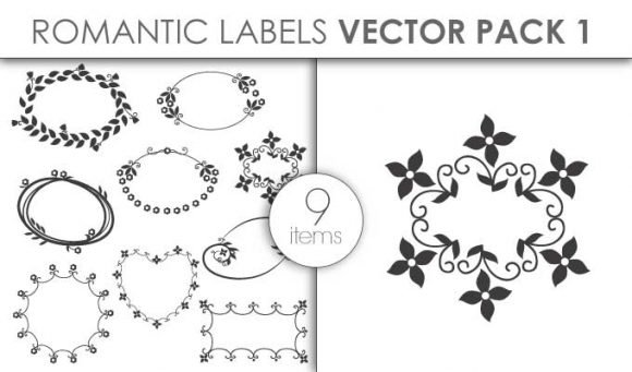 Vector Romantic Labels Pack 1 1
