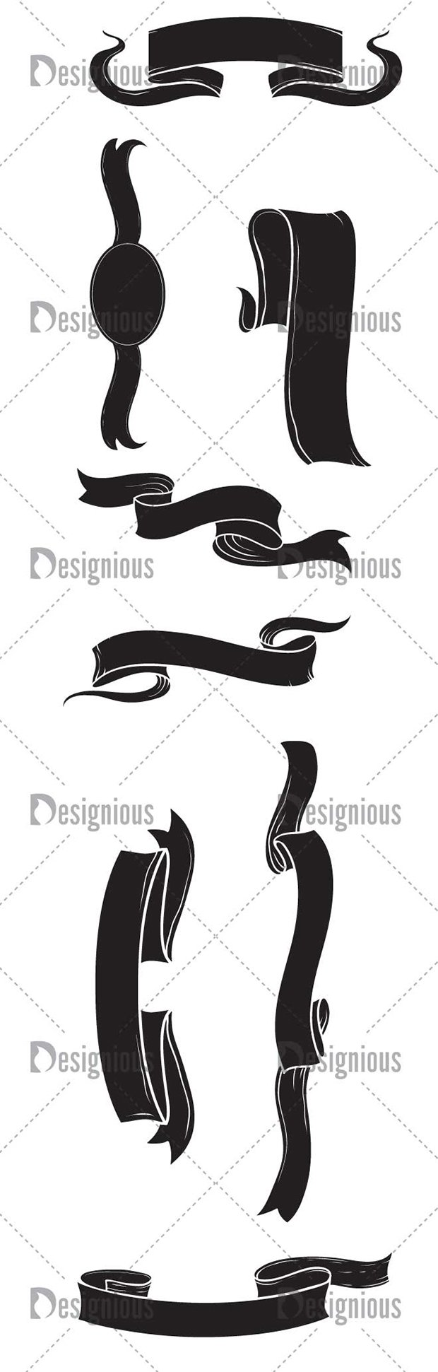 Vector Scrolls Pack 1 2