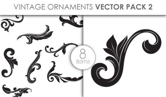 Vector Vintage Ornaments Pack 2 1