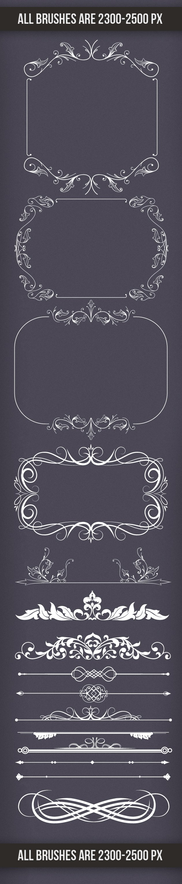 Decoration-Frames-and-Dividers-PS-Brushes 2