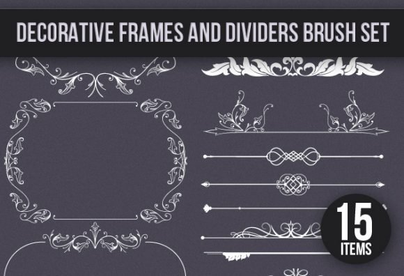 Decoration-Frames-and-Dividers-PS-Brushes 1