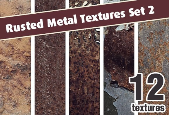 Rusted Metal Textures Set 2 1