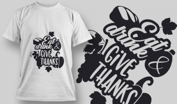 2137 Eat Drink Give Thanks SVG Quote 1