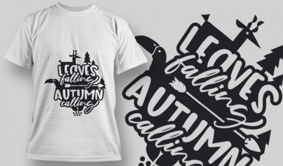 2147 Leaves Falling Autumn Calling 1 SVG Quote 1