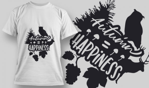 2176 Autumn Happiness 1 SVG Quote 1