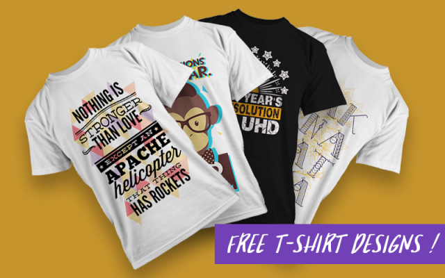 The Free Vector T-shirt Designs Mega Set 71