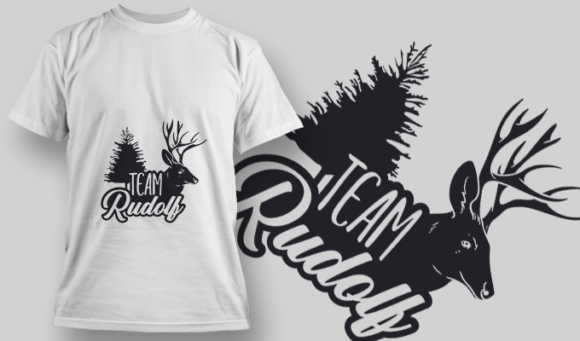 2289 Team Rudolf T-Shirt Design 1