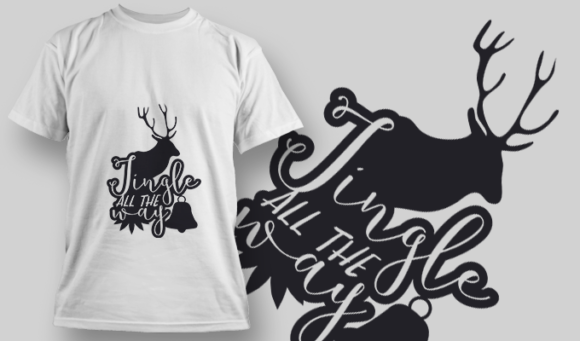 2310 Jingle All The Way T-Shirt Design 1