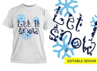 Let it snow editable template