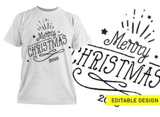 Merry Christmas graphic design template