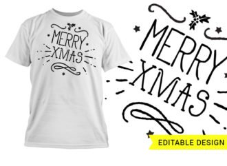 Merry Xmas graphic design template