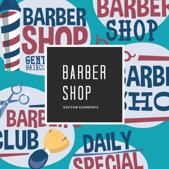Free Barber Shop Vector Clip Art 1