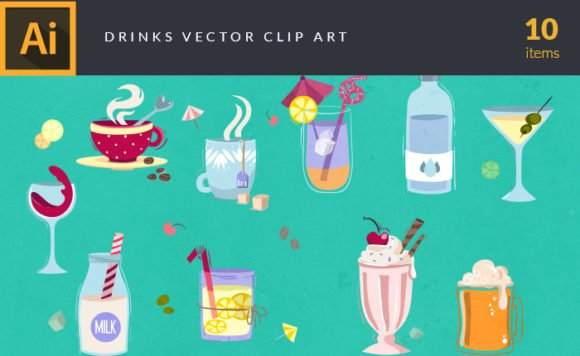 Drinks & Cocktails | Vector Pack