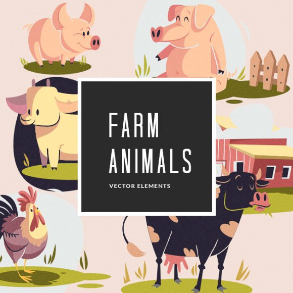 Illustrated Farm Animals | Vector Pack